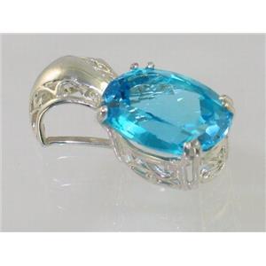 SP050, Swiss Blue Topaz 925 Sterling Silver Pendants
