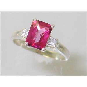 SR171, Pure Pink Topaz, 925 Sterling Silver Ring