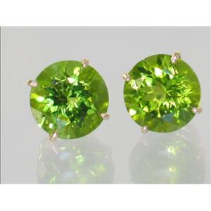 E212, Peridot, 14k Gold Earrings