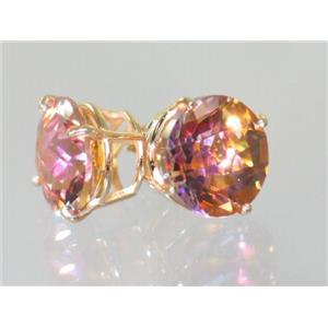 E212, Twilight Fire Topaz, 14k Gold Earrings