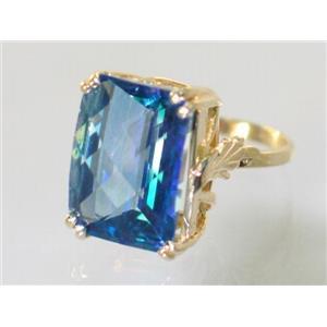 R039, Neptune Garden Topaz, Gold Ring