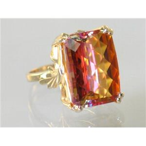 R039, Twilight Fire Topaz, Gold Ring
