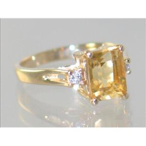 R171, Citrine, Gold Ring
