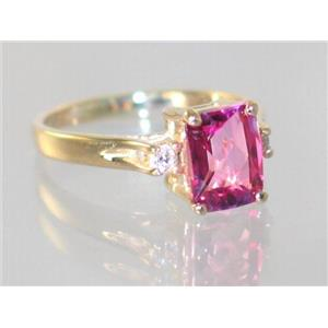 R171, Pure Pink Topaz, Gold Ring