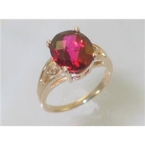 R139, Crimson Topaz, Gold Ring