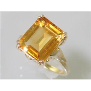 R188, Citrine, Gold Ring