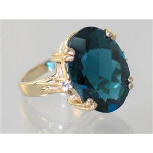 R269, London Blue Topaz, Gold Ring