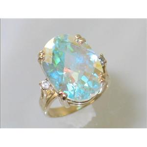 R269, Mercury Mist Topaz, Gold Ring