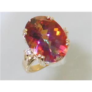 R269, Twilight Fire Topaz, Gold Ring