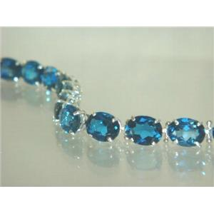 SB003, London Blue Topaz, 925 Sterling Silver Bracelet