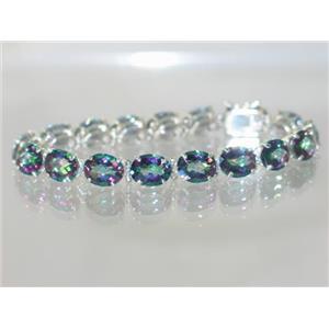 SB003, Mystic Fire Topaz, 925 Sterling Silver Bracelet