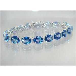 SB003, Neptune Garden Topaz, 925 Silver Bracelet