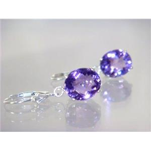 SE207, Amethyst, 925 Sterling Silver Earrings