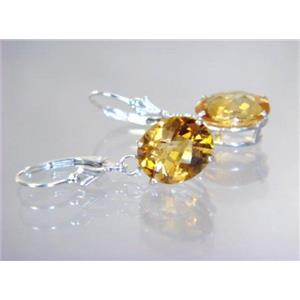 SE207, Citrine, 925 Sterling Silver Earrings