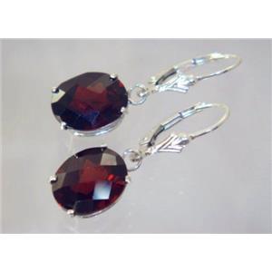 SE207, Mozambique Garnet, 925 Sterling Silver Earrings
