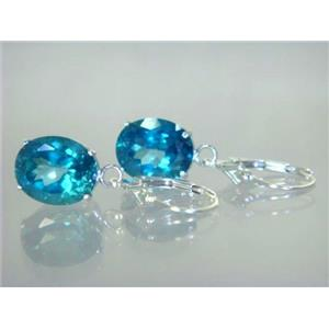 SE207, Paraiba Topaz, 925 Sterling Silver Earrings
