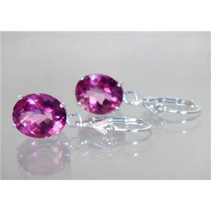 SE207, Pure Pink Topaz, 925 Sterling Silver Earrings