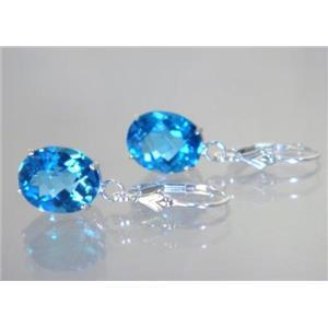SE207, Swiss Blue Topaz, 925 Sterling Silver Earrings