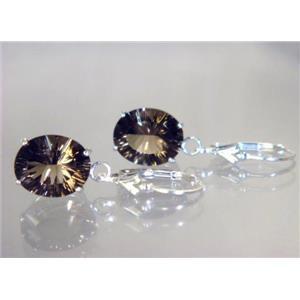 SE207, Smoky Quartz, 925 Sterling Silver Earrings