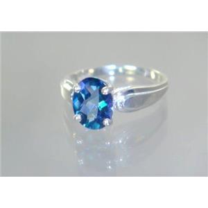 SR058, Neptune Garden Topaz, 925 Sterling Silver Ring