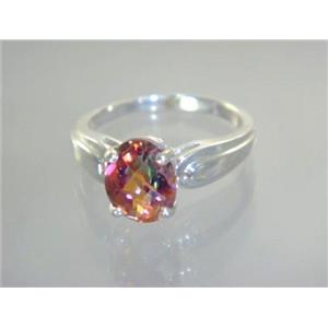 SR058, Twilight Fire Topaz, 925 Sterling Silver Ring