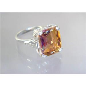 SR188, Twilight Fire Topaz, 925 Sterling Silver Ring