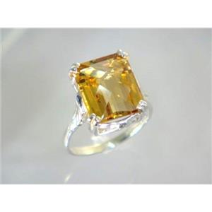 SR188, Citrine, 925 Sterling Silver Ring