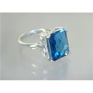 SR188, London Blue Topaz, 925 Sterling Silver Ring