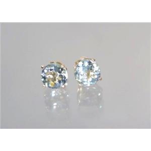 E012, Green Amethyst, 14k Gold Earrings