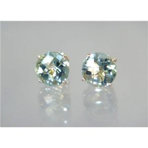 E112, Green Amethyst, 14k Gold Earrings