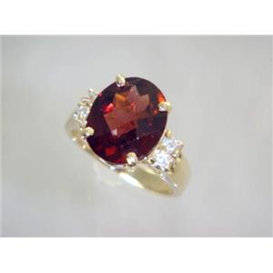 R123, Mozambique Garnet, Gold Ring