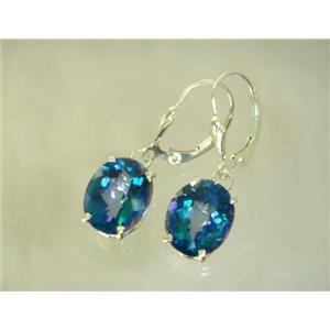 SE207, Neptune Garden Topaz, 925 Silver Earrings
