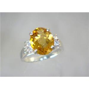 Citrine, 925 Sterling Silver Ring, SR123