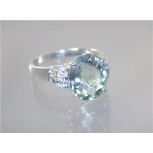 Green Amethyst, 925 Sterling Silver Ring, SR123
