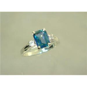 SR171, Neptune Garden Topaz, 925 Sterling Silver Ring