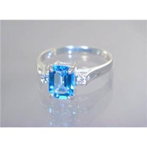 SR171, Swiss Blue Topaz, 925 Sterling Silver Ring