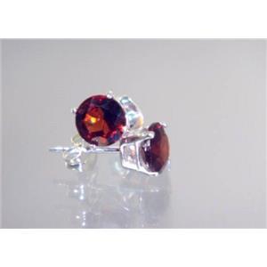 Mozambique Garnet, 925 Sterling Silver Earrings, SE012