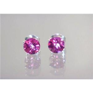 Pure pink Topaz, 925 Sterling Silver Earrings, SE012