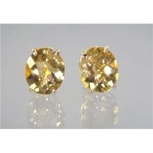 E202, Citrine, 14k Gold Earrings