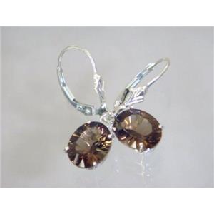 SE107, Smoky Quartz, 925 Sterling Silver Earrings