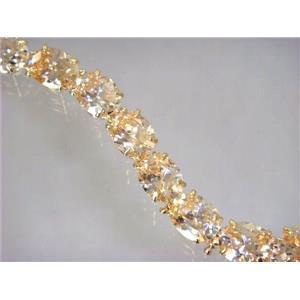 B003, Champagne CZ Gold Bracelet