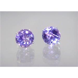 SE112, Amethyst, 925 Sterling Silver Earrings