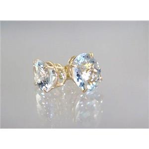 E102, Silver Topaz, 14k Gold Earrings