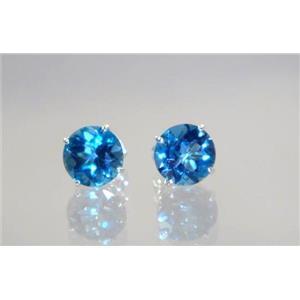 SE112, London Blue Topaz, 925 Sterling Silver Earrings