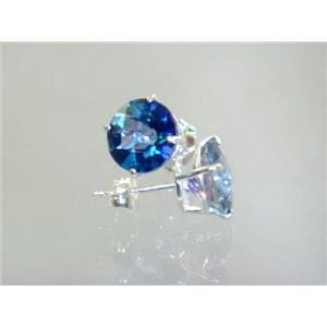 SE112, Neptune Garden Topaz, 925 Silver Earrings