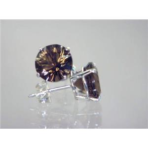 SE112, Smoky Quartz, 925 Sterling Silver Earrings