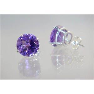 Amethyst, 925 Sterling Silver Earrings, SE212