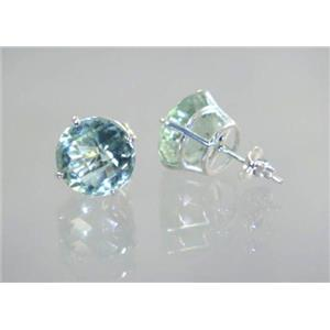 Green Amethyst, 925 Sterling Silver Earrings, SE212