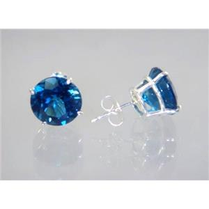 London Blue Topaz, 925 Sterling Silver Earrings, SE212