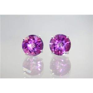 Pure Pink Topaz, 925 Sterling Silver Earrings, SE212,